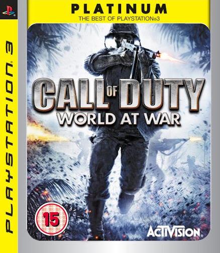 PS3 Call of Duty World at War Platinum