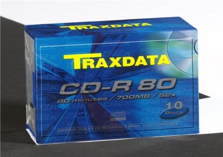 Traxdata CD-R SLIM BOX 10kom. 700 MB