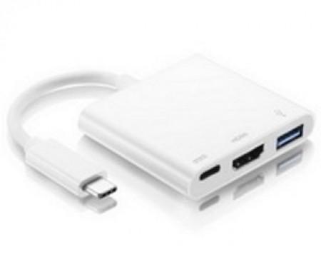 FAST ASIA Adapter - konvertor USB 3.1 tip C - USB 3.0 + HDMI + tip C (F)