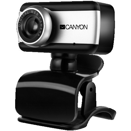 CANYON Enhanced 0.3 Megapixels resolutions webcam with USB 2.0 connector, 360 rotary view scape, sensitive microphone, multifunctional pede