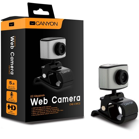 CANYON 720P HD webcam with USB2.0. connector, 360° rotary view scope, 2.0Mega pixels (CNE-CWC2)