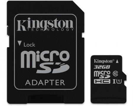 KINGSTON UHS-I MicroSDHC 32GB 80R class 10 SDCS32GB + adapter