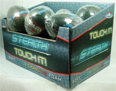 Lopta stealth velika - dotakni, stisni  i promijenit će boju od topline ruku. Uzrast 3+.