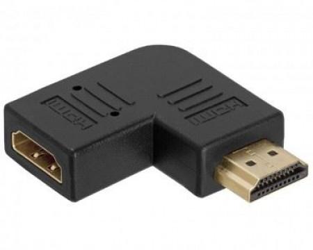 Adapter E-green HDMI (M) - HDMI (F) crni