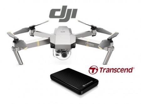 DJI DRON MAVIC Pro Platinum + POKLON Eksterni disk 1TB TRANSCEND