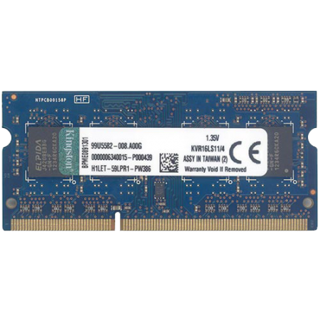 Kingston SODIMM DDR3 4GB 1600MHz KVR16LS114 1.35V
