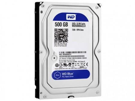 WDGreen 5000AZLX, 500 GB, SATA3, 32 MB, 3,5, 7.200 rpm