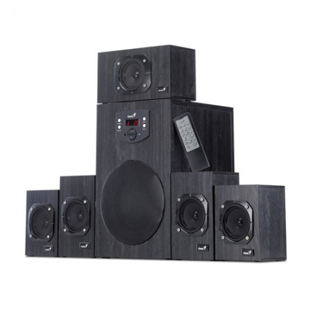 GENIUS SW-HF5.1 5.1 Sistem 4500 BlackWood 125W