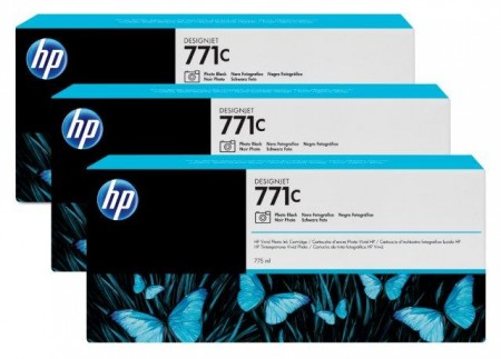 HP No. 771C 3-pack 775-ml Photo Black Designjet Ink Cartridges za Ploter Z6200 [B6Y37A]