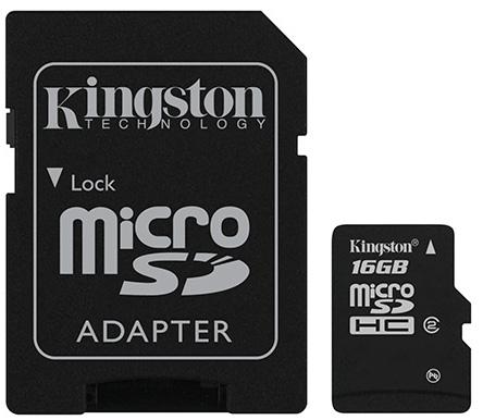Kingston 16GB + SD adapter SDC4/16GB