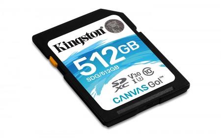 KINGSTON UHS-I U3 SDXC 512GB V30 SDG512GB Go