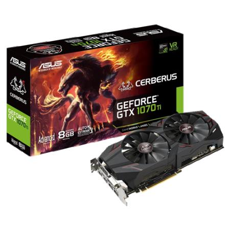 ASUS nVidia GeForce GTX 1070Ti-A-8G 8GB 256bit CERBERUS GTX 1070Ti-A-8G