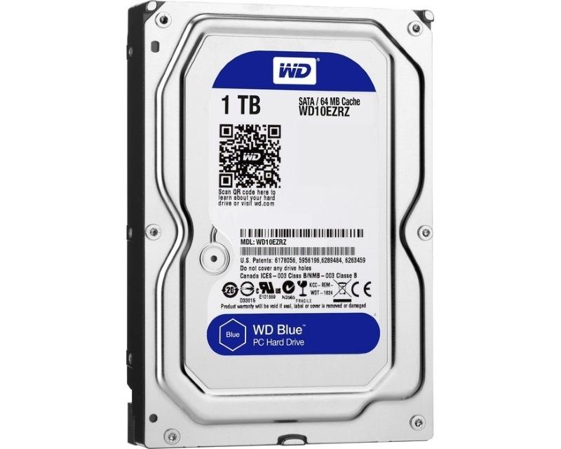 WD 1TB 3.5 SATA III 64MB 5.400rpm WD10EZRZ Blue