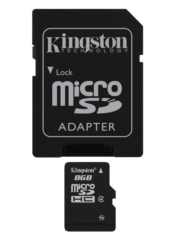 Kingston microSDHC 8GB class 4 + adapter SDC48GB