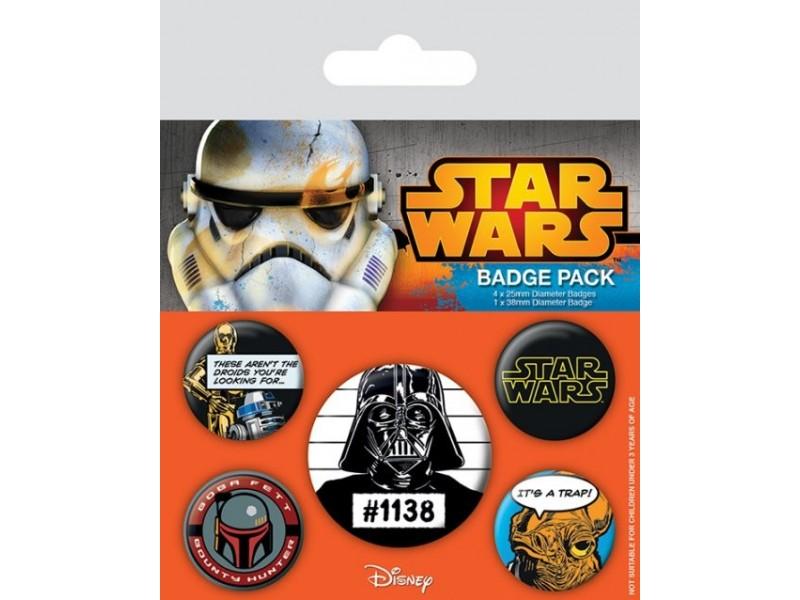 Star Wars - Dark Side Pin Badge Pack (5 Pins)