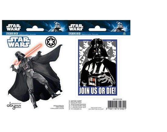 STAR WARS - Stickers - 16x11cm - Vader X5