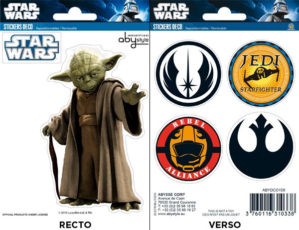 STAR WARS - Stickers - 16x11cm - YodaSymboles X5