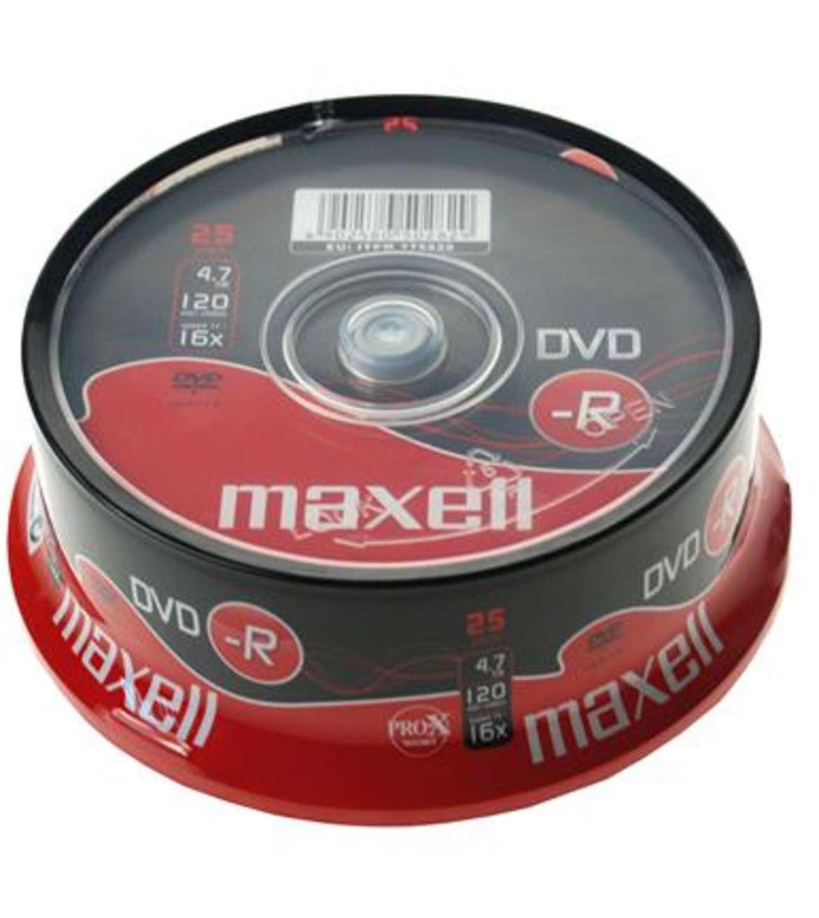 MAXELL DVD-R 4.7GB 16X CB25