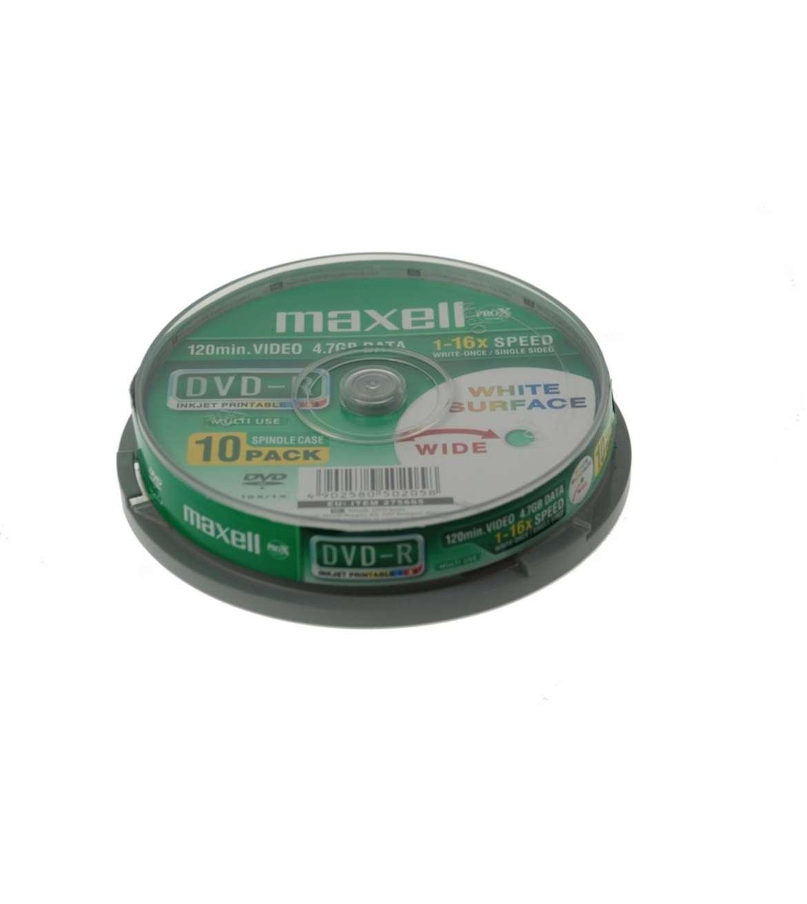 MAXELL DVD-R 4.7GB 16X CB10, PRINTABLE