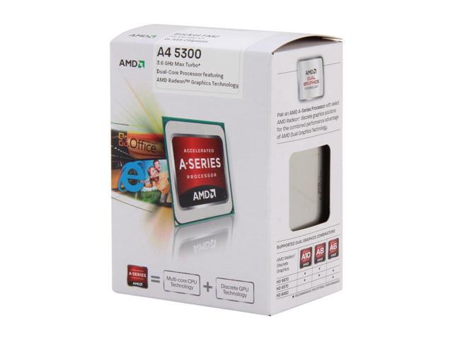 FM2 AMD A4-Series A4-5300 APU 2-Core 3.4GHz Box