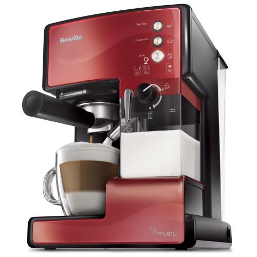 BREVILLE VCF046X crveni Aparat za espresso Prima Latte